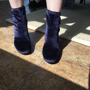 Unisa Shoes - Unisa Velvet Navy Ankle Boots (NEW)